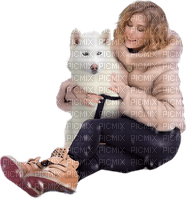 woman winter dog femme hiver chien 👩‍🦱🐶