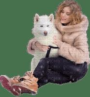 woman winter dog femme hiver chien 👩🦱🐶