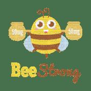 Kaz_Creations Cute Cartoon Love Bees Bee Wasp Text Bee Strong