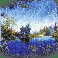 paysage bleu blue landscape