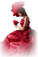 femme rouge woman red