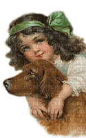 child dog vintage enfant chien