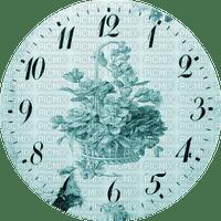 Clock-Parts, Clock-Face, Clocks, Deco, Decoration, Flower, Flowers, Teal - Jitter.Bug.Girl
