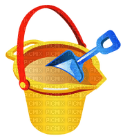 beach bucket and shovel pelle de seau de plage
