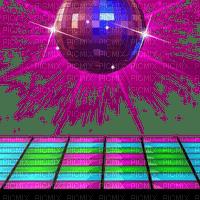 dance disco room mirror ball fond pink overlay effect music
