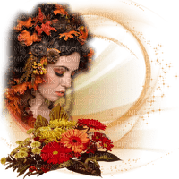 autumn woman deco