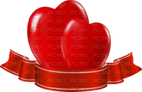 red hearts valentin banner