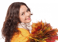 woman autumn leaves femme automne feuilles
