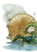 asia cloud pond water tube  spring printemps flower overlay fond background bouclier umbrella Chine china japan japon