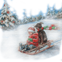 childs sleigh winter enfant hiver