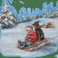 childs sleigh winter enfant hiver