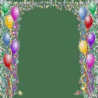 balloons birthday frame cadre ballon anniversairy