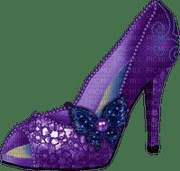 Kaz_Creations Deco Purple  Shoe Butterfly Colours