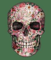 skull gothic goth flower art tube deco