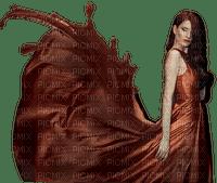 femme  en marron web
