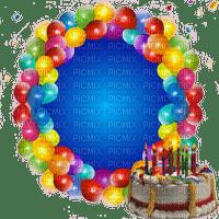 happy BIRTHDAY BALLOONS FRAME cadre
