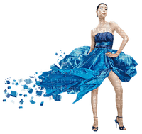 Kaz_Creations Woman Femme Blue