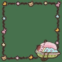 Cadre bébé bonne nuit Debutante oiseau fleurs lapin rose ours frame baby good night flower