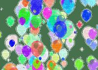 multicolore image encre mariage bon anniversaire color effet ballons  edited by me