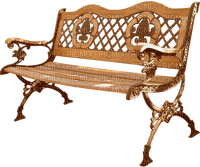 Deco park bench