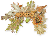 automne  feuilles text autumn deco leaves