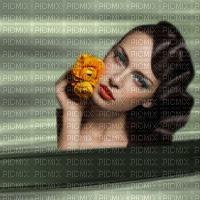 image encre couleur effet texture femme visage fleurs edited by me