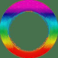 transparent frame colorful circle