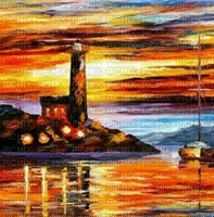 loly33 fond painting paysage phare