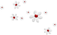 Kaz_Creations Deco Flowers Red White