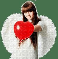 St. Valentin love Angel girl heart_Saint Valentin amour ange fille cœur