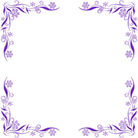 PURPLE FLOWER FRAME