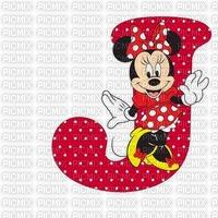 image encre lettre J Minnie Disney edited by me