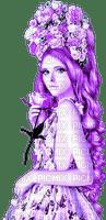 Woman.Roses.Purple