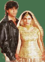 soave bollywood Shahrukh khan couple gold black