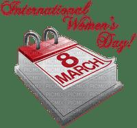 international womens day calendar 8 march text