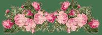 flower border vintage rose fleur deco vintage