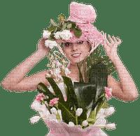 woman pink femme