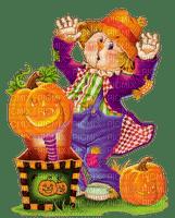 pumpkin citrouille kürbis   autumn automne herbst tube   deco  garden halloween scarecrow vogelscheuche épouvantail