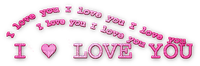 soave text deco with love valentine's day pink