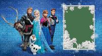 image encre bon anniversaire color effet Frozen  Disney cadre edited by me