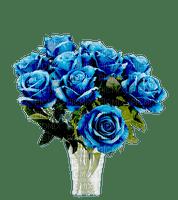 vase fleur-flower-bleu