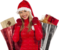christmas shopping woman femme noel