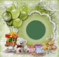frame cadre birthday anniversaire fond balloon gift