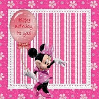 image encre color effet  happy birthday  Minnie Disney edited by me