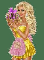 femme,blond,fashion,élégant,fleur, Pelageya