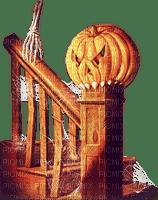 soave deco halloween stairs pumpkin vintage brown