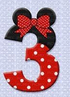 image encre numéro 3 bon anniversaire Minnie Disney edited by me