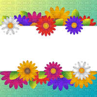 frame flowers spring border cadre fleur printemps bordure