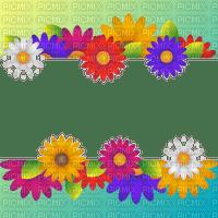 frame flowers spring border cadre fleur printemps bordure