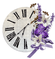 Purple Deco Clock